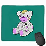 Lil Peep Bear Rubber Mousepad Gaming Mouse Pad with Stitched Edge 11.8'x9.8'