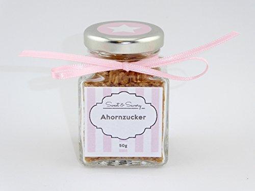 Ahornzucker 50g rosa, Ahorn, Zucker zum verfeinern, ideal als Geschenk oder Mitbringsel