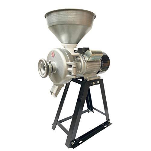 WLIXZ 3000W Elektrische Kommerzielle Nass- Und Trockenmühle, Hochleistungs-Futtermühle Trockenmühle, Weizenzufuhrmaschine Mit Trichter