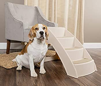 PetSafe CozyUp Pet Steps - PupSTEP Dog and Cat Stairs - Lightweight Durable Plastic Frame Supports up to 70 lb - Side Rails and Non-slip Feet Provide Added Security