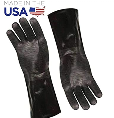 "Artisan Griller BBQ Heat Resistant Insulated Smoker, Grill, Fryer, Oven, Brewing, Cooking Gloves. Great for Barbecue/Frying/Grilling – Waterproof, Fire&Oil Resistant Neoprene-1 pair (Size 10/XL - 14"")"