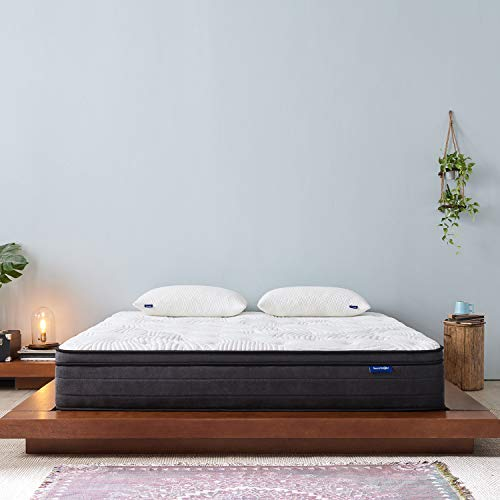 Review Full Mattress- Sweetnight Full Size Mattress in a Box,10 Inch Plush Pillow Top Spring Hybrid ...