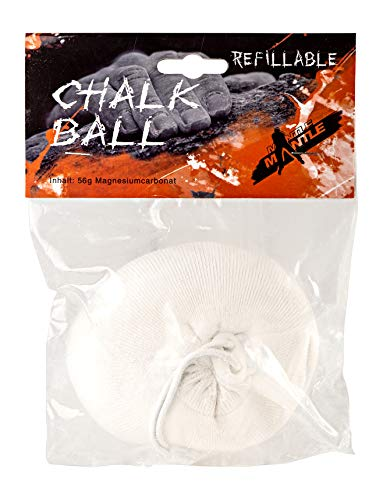 Mantle - Chalkball 1 x 56 gr. wiederbefüllbar Refill Kletterkreide Magnesia zum Klettern Bouldern
