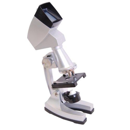 DynaSun TMPZ-C1200 Set Educativo Estudiante Avanzado de Ciencia Microscopio Mag:1200x con Capucha de Proyector