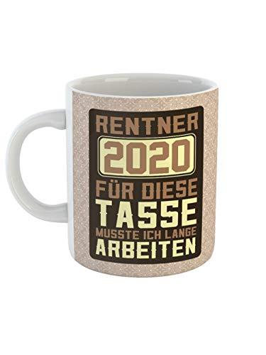 clothinx Ruhestand Rentner 2020 Tasse mit Spruch ideal Für den Renteneintritt, Pension Und Rente