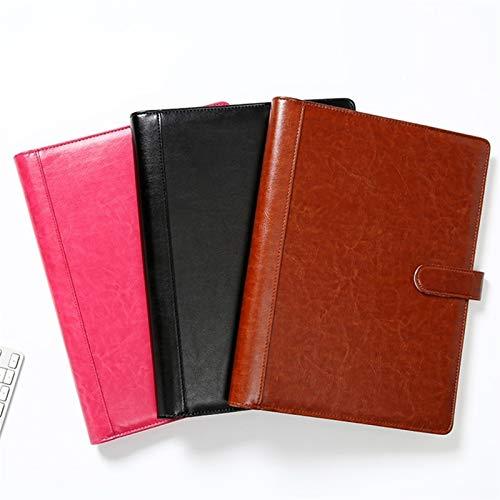 Escuela Documento Organizador A4 Cuaderno 4 Anillo Binder Office College trabajo (Color : Black, Size : A4)