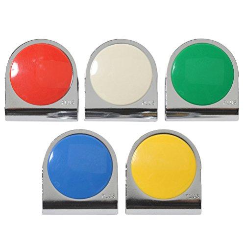 プラス カラーマグネットクリップ 5色 アソートパック 大 CP-043MC5P 80-548