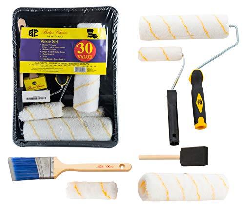 Bates Paint Roller - Paint Brush, Paint Tray, Roller Paint Brush, 11 Piece Home Painting Supplies, Foam Brush, House Painting Tray, Painting Tools, Roller and Paint Brushes, Interior Paint Brushes
