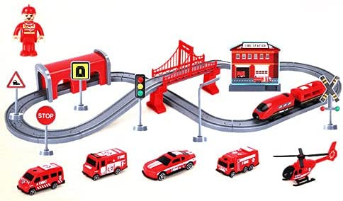 Manufacturer regenerated product DSHMIXIA Battery Cheap Operated Train Set Electric Kids Sets for