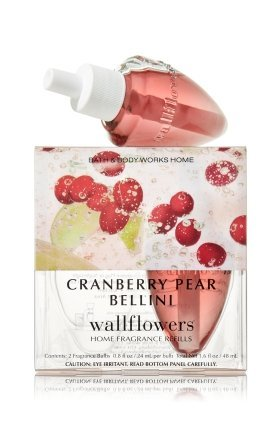 Bath Body Works Cranberry Pear Bellini Wallflowers Home Fragrance Refills 2...