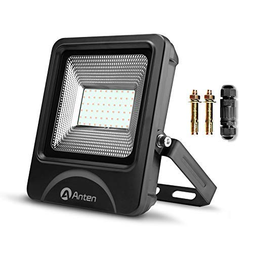 Anten Led-schijnwerper, lijkt op schuur, IP66 waterdicht, led-buitenverlichting, schijnwerper, incl. kabelconnector
