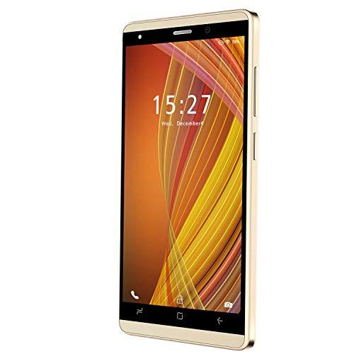 Smartphone Offerta del Giorno 4G, 5.1 Pollici 16GB ROM  128 GB Espandibile Dual SIM Doppia Fotocamera 5MP Smartphone Economici in Offerta Quad-Core, Telefonia Mobile, 2800mAh Bluetooth (Oro)