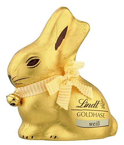 Lindt Goldhase - Premium Weiße-Schokolade zu Ostern, 4er Pack (4 x 100 g)