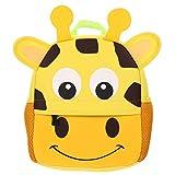 ifundom Sac à Dos de Dessin Animé pour Enfants Girafe Motif Animal Cartable Maternelle Néoprène Sac de Livre pour Enfants en Bas Âge Cadeaux de Douche de Bébé (Jaune)