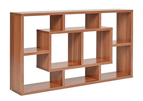 ts-ideen Libreria Scaffale 48x85 cm color Noce con 8 vani