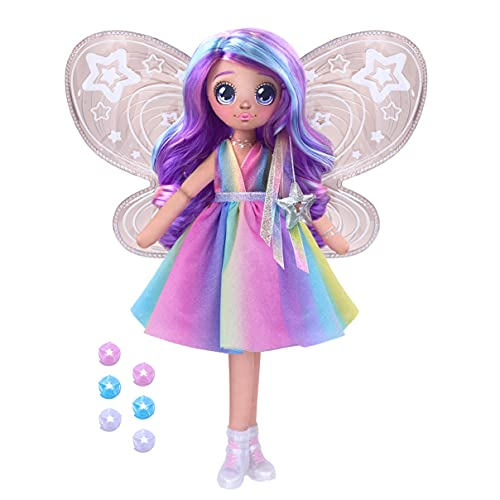 Dream Seekers Light Up Doll Pack – 1pc Toy   Magical Light Up Fairy Fashion Doll Stella, Multicolor (13827)