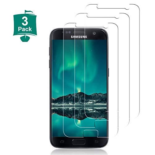 3 Stück Panzerglas Schutzfolie für Samsung Galaxy S7,3D Touch/9H Härte/Blasenfrei/Anti-Kratze/Anti-Öl/Einfacher Montage/HD Klar Displayschutzfolie, Panzerglas Folie,Gehärtetem Glas für S7-Transparent