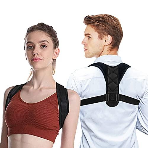 QUNPON Schultergurt Haltungskorrektur Rücken Gerade Halter für Männer und Frauen Rückenstrecker Haltungstrainer Rückenstütze Haltungskorrektur für Nacken Zurück Schulter