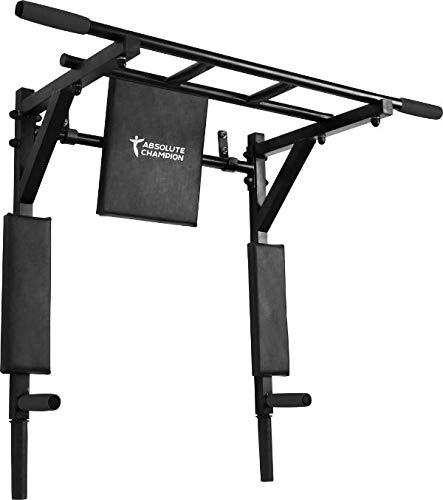 StM–Sport | Klimmzugstange 3 in 1 Athlet Schwarz | Wandmontage | Pull Up Bar/Chin Up Bar | Multifunktional | Dip Station | Home Gym | Workout | Sportgerät | Fitness Geräte | Klimmzug Stangen
