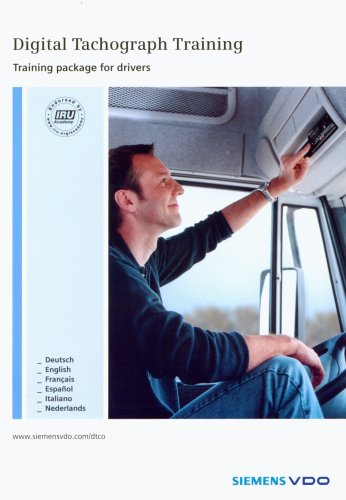 Digitaler Tachograph, Trainingspaket für Fahrer, 1 CD-ROM m. Handbuch. Für Windows 98SE/Me/2000/XP HOme und Pro. Einzellinzenz