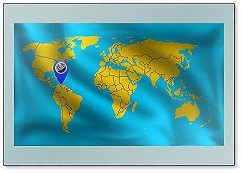 Bonaire Locatie Mark op de Wereld Kaart, Bonaire Vlag Koelkast Magneet