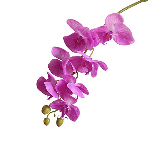 WanBeauty 1Pc Bouquet di Fiori Artificiali Farfalla Orchidea Fai-da-Te per Desktop per Matrimoni, Arrangiamenti per Tavoli da Ufficio, Regalo per Festival Viola Scuro