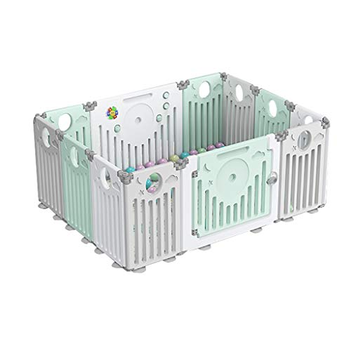 Best Review Of HTDZDX Infant & Baby Playpen Safety Fence Kids Activity Centre Safety Play Yard with ...