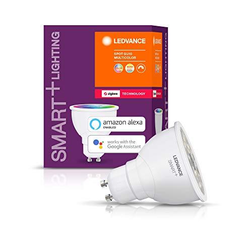 LEDVANCE Smart+ LED, ZigBee GU10 Reflektor, warmweiß bis tageslicht (2700K - 6500K), Farbsteuerung, Direkt kompatibel mit Echo Plus und Echo Show (2. Gen.), Kompatibel mit Philips Hue Bridge