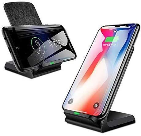 OH 10W Fast Qi Wireless Charger Soporte de Teléfono Inalámbrico Cargador de Inducción de Carga Adecuado para Iphone Xr Xs Max X 8 Plus Compatible con Samsung Galaxy Note10 S10 S9 Ca