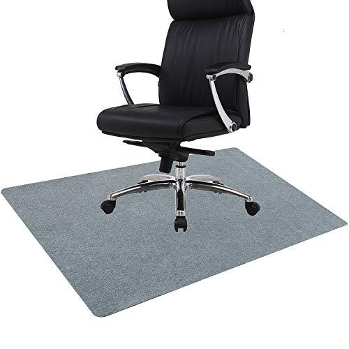 Dontery チェアマット フローリング 椅子 床 保護マット 厚さ4mm 丸洗い可能 カット可能 吸音 ズレない キズ防止 足元マット 机下 椅子 フロア 床暖房 オフィス対応 (140*90CM, グレー)