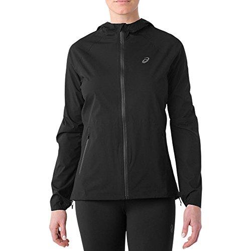 ASICS Wasserundurchlässige Jacke für Damen L Schwarz (Performance Black)