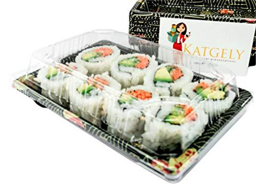 katgely Sushi bandejas con tapas