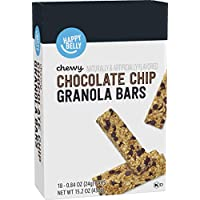18-Count Amazon Brand Happy Belly Chewy Chocolate Chip Granola Bars