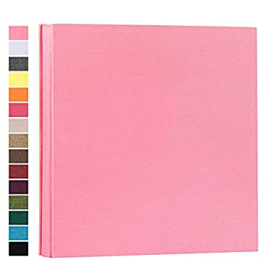 potricher Photo Album for 4x6 600 Photos Linen Cover Extra Large Capacity Photo Book for Family Wedding Anniversary Baby (Pink, 600 Pockets)