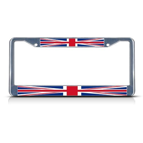 Fastasticdeals British Flag United Kingdom License Plate Frame Tag Holder Cover