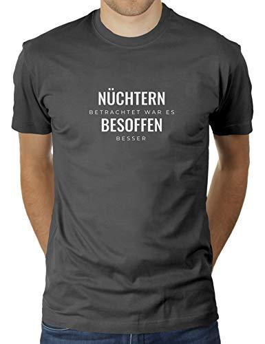 KaterLikoli - Camiseta para Hombre, diseño con Texto en alemán Antracita XXL