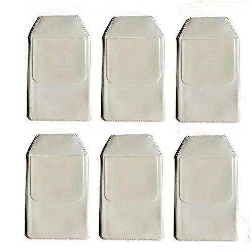 Zorpia - 6 protectores de bolsillo clásicos blancos para escuela, hospital, oficina, protector de bolsillo para fugas de bolígrafo por Zorpia