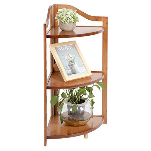 Estantería esquinera, librería de madera de bambú, mueble organizador para cocina, dormitorio,...