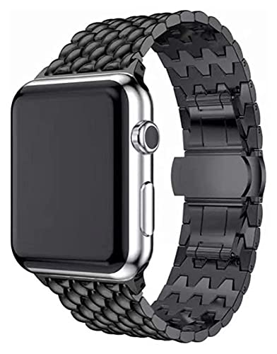 Youdert Bandas de Metal compatibles con Apple Watch 38 mm 40 mm 42mm 44mm Correa de Acero Inoxidable de Acero Inoxidable Enlace de reemplazo Banda Deporte Suave Transpirable para iWatch Series 6 / SE