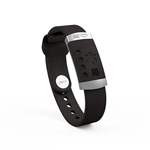 EndlessID Medical Alert Bracelet ID - NFC Technology - Black - Identification Bracelet - ID Wristband - Sport ID - Battery Free - Stylish and Durable