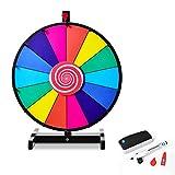 DREAMADE Glücksrad zum drehen, Tischglücksrad für Lotteriespiele Wheel of Fortune Bunt, Preisrad...