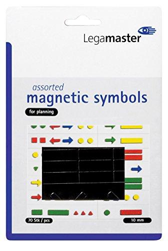 Legamaster Symbolmagnet Magnetsymbole, 10 mm, Schwarz, ca. 50 g/cm² g