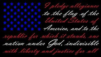 American Flag Pledge of Allegiance Red White and Blue Vinyl Truck Window Sticker Decal  13  x 22