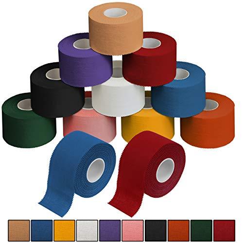 ALPIDEX 12 x Sport-Tape 3,8 cm x 10 m in 10, Farbe:bunt
