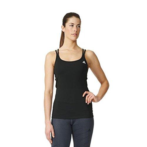 adidas Basic Strappy Camiseta, Mujer, Negro (Negro), S