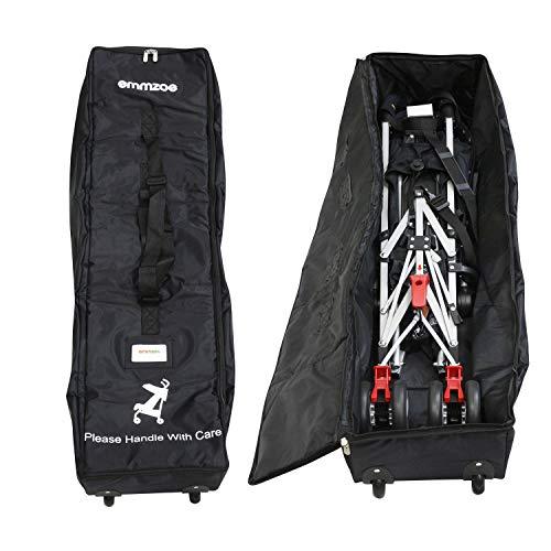 Emmzoe Wheelie Umbrella Stroller Padded Luggage Check-in Travel Bag Case - Durable, Waterproof, Easy Roll for Storage