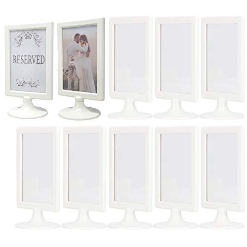 ALBEN Bilderrahmen mit Standfuß, elfenbeinfarben, Weiß, 10 Stück