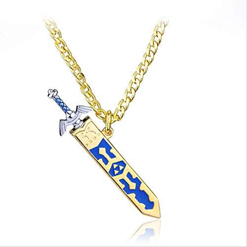 Yuan Ou Collar Hombre Extraíble Espada Maestra Colgante Oro Color Collar Juego Joyería para Los Regalos De Los Hombres