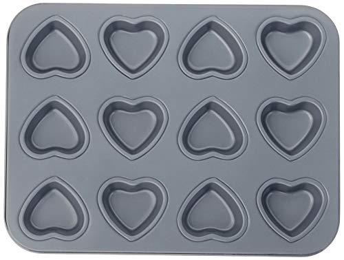 Fox Run Mini Heart Muffin Pan, 12-Cup, Preferred Non-Stick