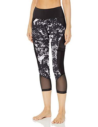V.I.P. JEANS Performance Women high Waist Yoga Pants Pockets mesh Legs, Spray Print, Large